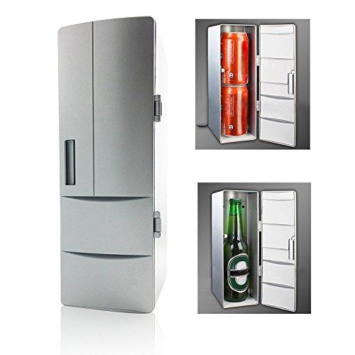 Réfrigérateur USB,Mini-frigo portatif pour Boisson Refroidisseur de Bureau Refroidisseur/Chauffage pour Maison, Ordinateur Portable, PC ou Voiture