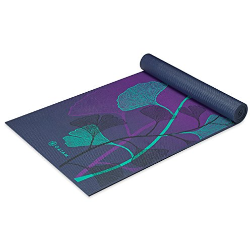 Gaiam Yoga Mat Premium Print Extra Thick Non Slip Exercise & Fitness Mat...