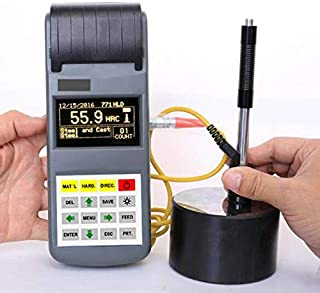 GAO-PHT-104 Portable Hardness Tester with Largest OLED Screen 3 Inch, HL-HV-HB-HRC-HRB-HRA-HS Hardness Conversion, Memory 600 Groups, Accuracy +-6 HLD, Measuring Range 170~960 HLD, USB Interface 1.1