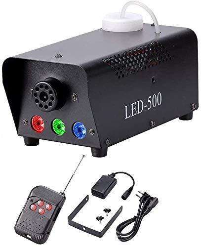 U`King Nebelmaschine mit kabelloser Fernbedienung und buntes LED Licht Maschine 500 WATT für Feiertage, Hochzeiten,Theater Party Club DJ Effekt