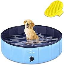 TantivyBo Dogs Swimming Pool, Portable Pet Swimming Pool for Dogs, Slip-Resistant PVC Kiddie Pool for Dogs, Pet Bathing Pool for Dogs, Cats and Kids