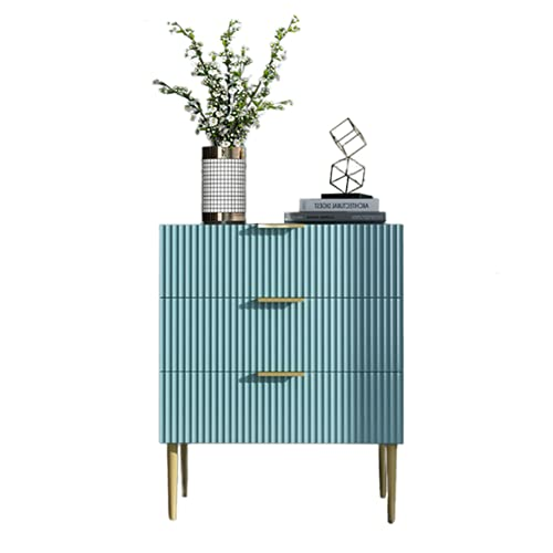 Nightstand with 2 Drawers, Modern Bedside Table End Table Furniture Storage Cabinet/Bedside Table for Bedrooms Small Space,Blue