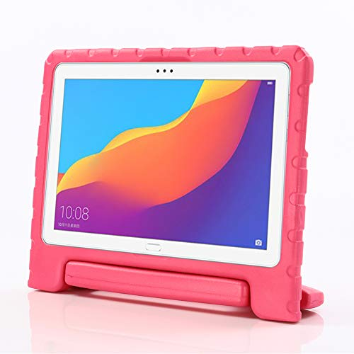 i-original Compatible with Huawei MediaPad T5 10 10.1-In Case,Compatible with Huawei Honor Play Pad 5 EVA Case for Kids Cover Handle Stand,Convertible Handle Lightweight Protective Cover (Magenta)