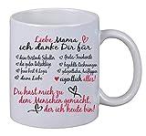 Tazza da caffè con scritta in lingua tedesca 'Liebe Mama ich Danke dir für alles Weihnachten', regalo di compleanno