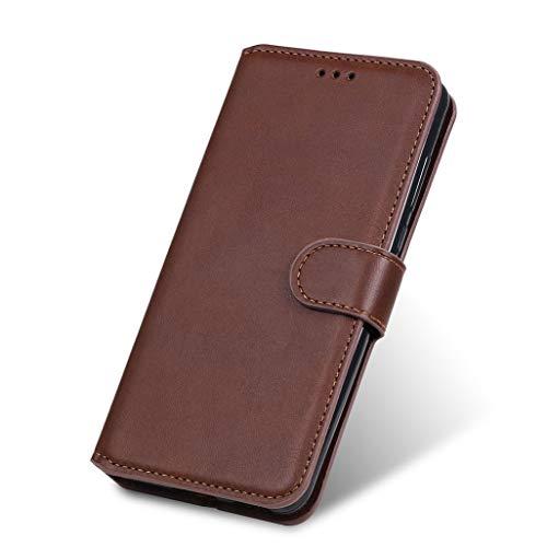 HAOTIAN Funda para Samsung Galaxy A01 Core Funda con Billetera, Suave PU Cuero Flip Carcasa Case Cover con Soporte/Tapa Tarjetas, Ultrafino Cubierta Magnética para Samsung Galaxy A01 Core, Marrón