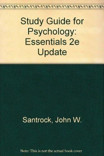 Study Guide for Psychology: Essentials 2e Update