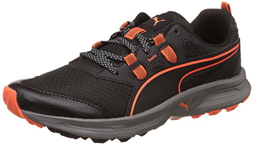 Puma Men's Essential Trail Black-Quiet Shade-Shocking Orange...