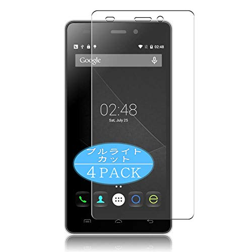 VacFun 4 Piezas Filtro Luz Azul Protector de Pantalla, compatible con DOOGEE X5 / X5S / X5 Pro, Screen Protector Película Protectora(Not Cristal Templado) NEW Version