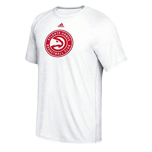 adidas NBA Uomo Frase Cappello Gancio ClimaLite Ultimate Tee, Uomo, White