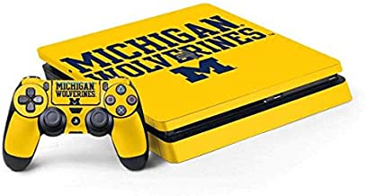 Skinit Decal Gaming Skin for PS4 Slim Bundle - Officially Licensed College Michigan Wolverines Design