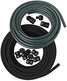 Gardener's Supply Snip-n-Drip Soaker Hose System, Drip Irrigation with Fittings 1/2 Inch by 50-Feet Includes Quick Connect