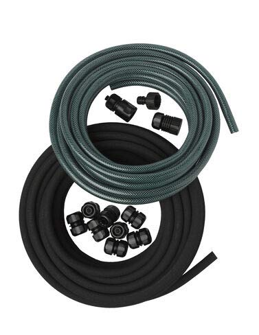 Gardener's Supply Company Snip-n-Drip Soaker Hose System, Drip Irrigation with Fittings 1/2 Inch by 50-Feet Includes Quick Connect