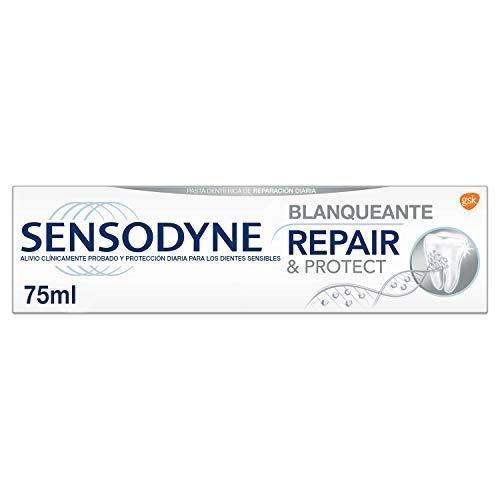 Sensodyne Repair & Protect Blanqueante - Pasta de Dientes con Flúor y Novamin que Alivia la Sensibilidad Dental y Ayuda a Eliminar las Manchas - 75 ml
