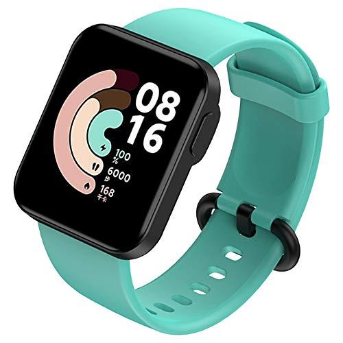 FunBand Correa Compatible para Xiaomi Mi Watch Lite/Redmi Watch Lite, Correas de Silicona Correa de Repuesto Suave Pulseras Ajustable Reemplazo Accesorios para Xiaomi Mi Watch Lite/Redmi Watch Lite