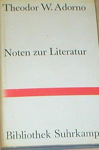 Noten zur Literatur 1