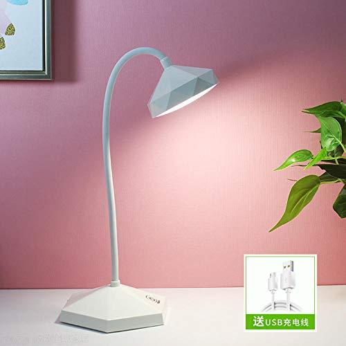 LED Schreibtischlampe USB LadeanschlussUSB wiederaufladbare LED College Schlafsaal kreative Klappbett Nachtlicht, pink_