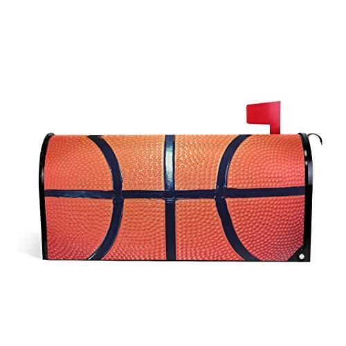 Linomo Cubierta magnética para buzón de correo, para balón de baloncesto, buzón de encaje, buzón de correo, cubierta para casa, jardín, patio, decoración al aire libre, para tamaño grande 25.5 x 21 pulgadas