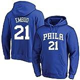 Joel Embiid Hombres de Baloncesto con Capucha Philadelphia 76ers pulóver Sudadera Manga Larga Floja Formación cómodo Superior Ocasional (Color : D, Size : L)