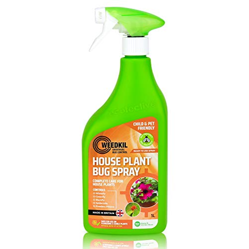 WeedKil Houseplant Bug Killer Spray 1L - Bug & Fungus Spray For Plants & Flowers - Child, Pet & Bee Friendly | Organic, Natural Ingredients - Ready To Use