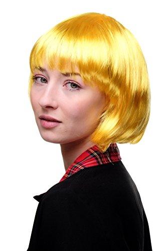 Peluca amarilla corta para mujer