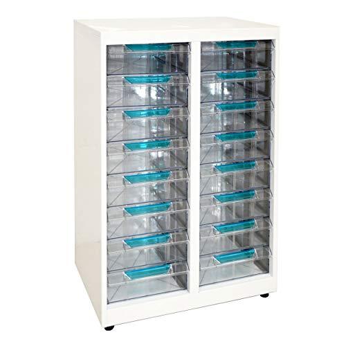 Vesalia Stahl Schubladenschrank durchsichtige Schübe Rollcontainer für den Schreibtisch (T-216)