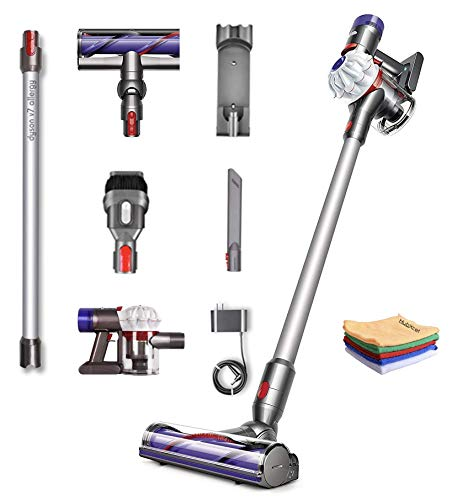 Flagship Dyson V7 Allergy HEPA Cordless Stick Vacuum Cleaner: Lightweight, Powerful Suction, Handheld Ergonomic, Bagless, Height Adjustable, Rechargeable Battery, w/One Hubxcel Microfiber Cloth