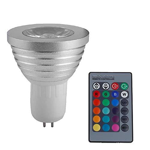 Liyuzhu GU5.3 RGB LED Strahler 3 W LED Lampe 85-265V Lampe High Power 16 Farben Veränderbar Dekoration Infrarot Fernbedienung LED (Weight : 3W)