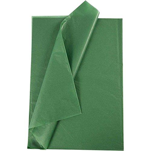 Creavvee® Decoupage Seidenpapier 50x70 cm, Grün 25 Blatt