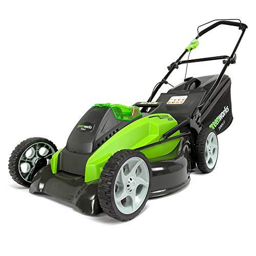 Greenworks Battery-Powered Lawnmower Cutting Width 45cm Twin Force...
