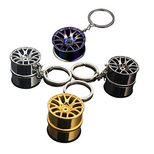 Llavero creativo para coche, 4 piezas de coche, llavero de llanta de rueda, llavero para llanta de rueda