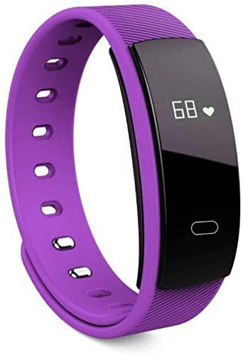 ZHENAO Fitness Tracker Smart Pulsera Tasa Del Corazón Monitoreo Impermeable Bluetooth Pantalla Táctil Sports Step Purple Sport Fitness Tracker Exclusivo