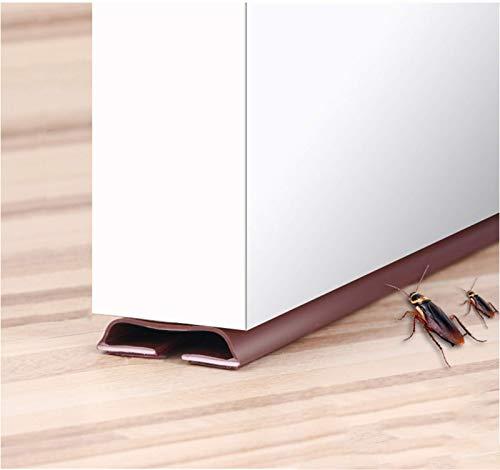 4× Zugluftstopper Selbstklebende Gummi Lärm Schutz Schalldichtung Türbodendichtung Luftzugstopper, Wetter Leiste Durchzugstopper, 0,9 Meter