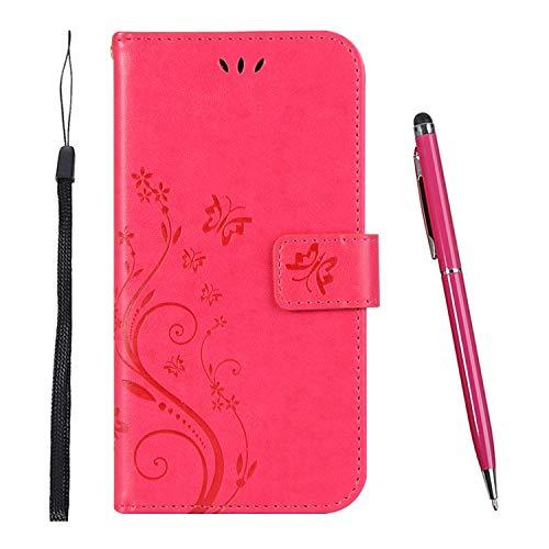 TOUCASA Hülle Kompatibel mit Samsung Galaxy S8,Brieftasche PU Leder Flip Case [Colourful Painting] Case Handytasche Klapphülle für Samsung Galaxy S8 (Rot)