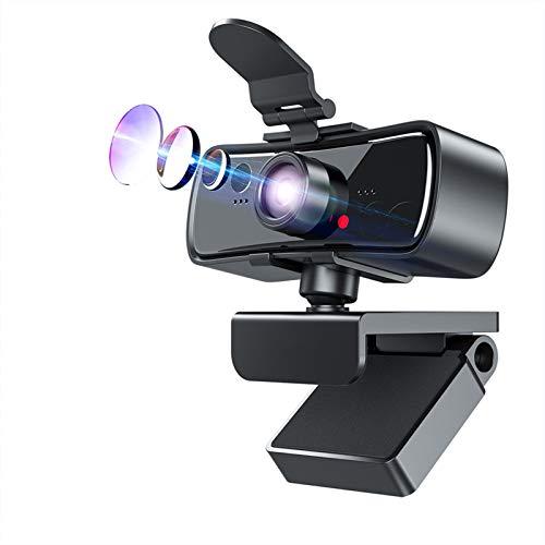 Webcam 1080p Cámara Web de Webcam Full HD de 1080p para computadora PC Portátil USB Web CAM con micrófono AutoFocus webcamera (Color : with Tripod Adapter)