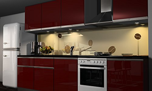 Küchenrückwand Folie selbstklebend Kaffee Klebefolie in verschiedene Größen   Fliesenspiegel   Dekofolie   Spritzschutz   Küche