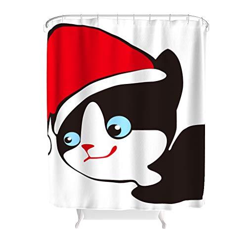 Rinvyintte Leven Kerstmis creatieve woonideeën buitenste badgordijn met sluiting voor staanders en badkuipen Transparant bovenstuk polyester