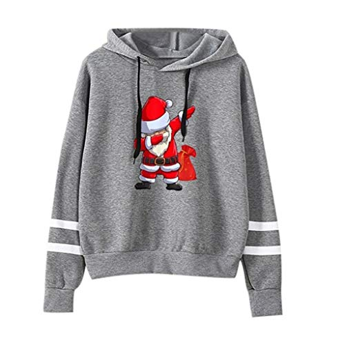HOTHONG Pulls Hoodie Femme De NoëL Sweat à Capuche Sweatershirt Tops Blouse Rayure Manches Longues Sweat-Shirt Veste for Women Pas Cher Manteau