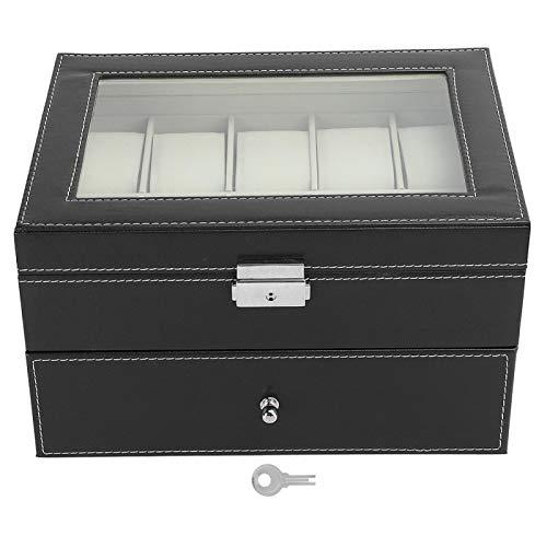 Caja de reloj, caja de almacenamiento de reloj, caja de gafas de reloj para anillo de viaje, hombres, mujeres, gafas de sol