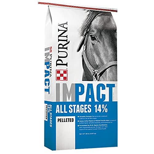 Purina | Impact All Stages 14 Pelleted Horse Feed | 50 Pound ( 50 LB) Bag