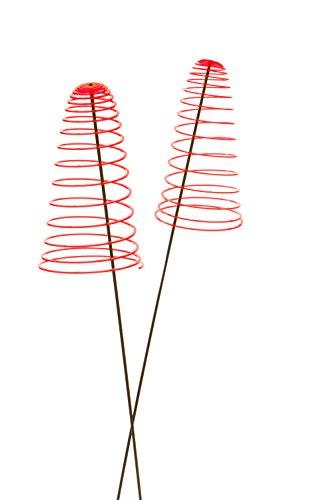 Garten Bronder e.K. 10138.22 Sunshine Piro – Soleil Spirale, Lot de 2 Diamètre 20 cm, Longueur env. 50 cm à Douille avec Tige basculant 1,25 m et système Elvira, fabriqué en Allemagne, Rouge