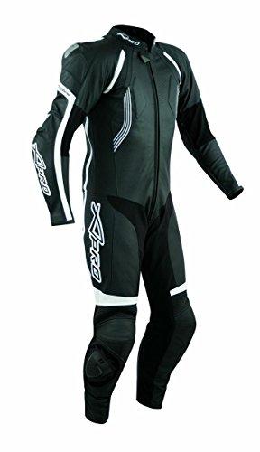 A-Pro Lederkombi Lederanzug Motorrad Sport CE Protektoren Rindsleder Suit Schwarz 58