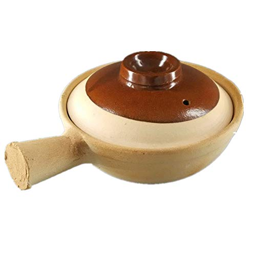 Classic old casserole Claypot rice ceramic bowl Old-fashioned Guangdong clay pot Household casserole with Single handle