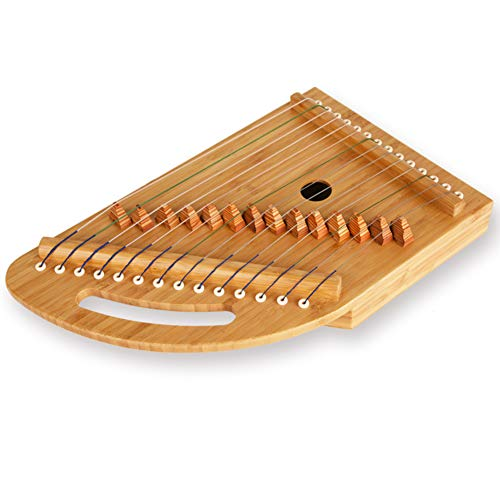 GYKFY Portable Dedo Guzheng Trainer Mini 14 Cuerdas Práctica cítara para el Principiante,B
