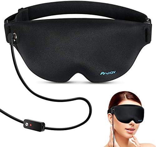 Heated Eye Mask Graphene Sleep Eye Mask for Dry Eye USB Far Infrared Warming Sleep Mask Washable product image