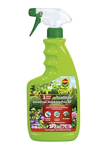 Compo Triathlon Universal Insekten-frei AF, Bekämpfung von Schädlingen an Zier- und Zimmerpflanzen, Anwendungsfertig, 1,5 Liter