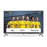 CHiQ L32D5T 32 Pouces (80cm) Full HD LED téléviseur,Triple Tuner (DVB-T2/T/C/S2/S,CI+,HDMI,Lecteur multimédia Via USB) [Classe énergétique A+] Gris Metal
