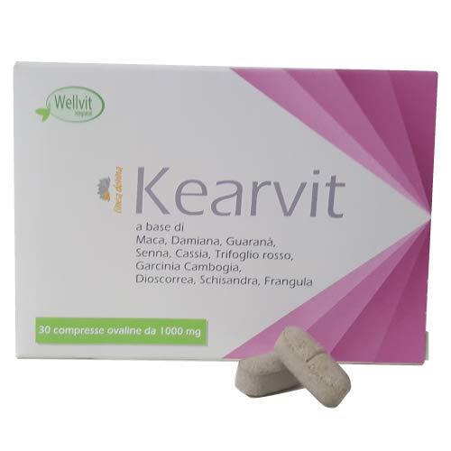 KEARVIT Integratore Alimentare per Donne in Menopausa Contrasta Vampate di Calore, Insonnia e Depressione Senza Soia Con Trifoglio Rosso Completamente Naturale