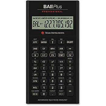 Texas Instruments IIBAPRO/TBL/1L1 BA II Plus Professional Financial Calculator  Renewed
