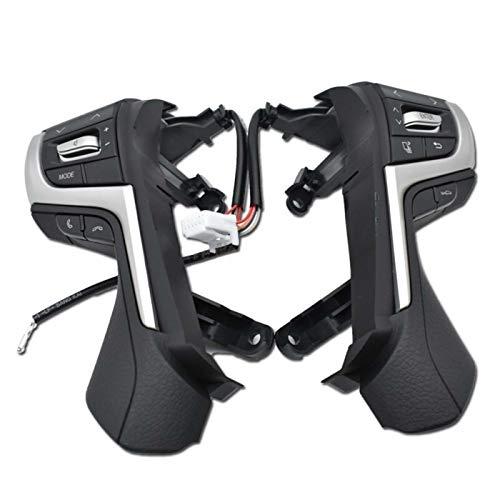 ADFIOSDO Pulsanti Bluetooth Telefono Volante Audio Control Button/Fit per Toy.OTA Land Cruiser Prado 84250-0N160 (Color : Black)