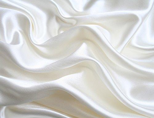 Mk Collection 4pc Soft Silky Satin Solid Color Deep Pocket Sheet Set (White, King)
